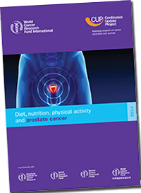 Diet, Nutrition, Physical Activity and Prostate Cancer (zdroj: AICR)